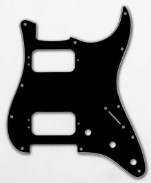 005-5268-000 - Fender HH Stratocaster Black 3 Ply 11 Hole Pickguard