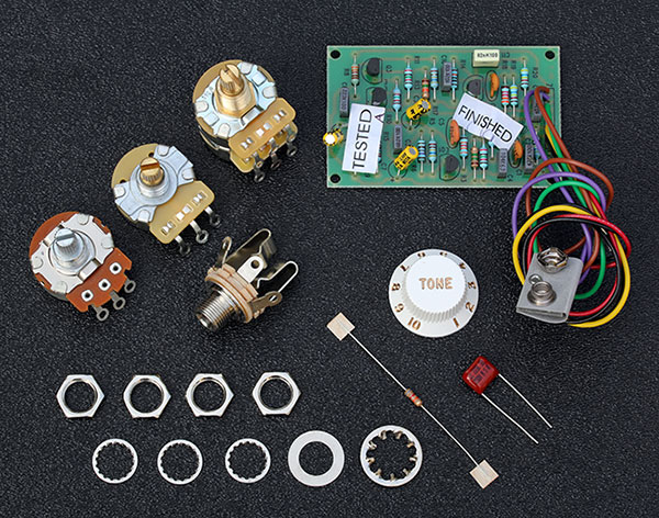 0057577000    Fender    PreAmp Mid Boost 25db Kit