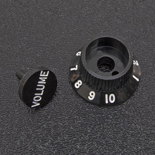 005-9267-029 - Genuine Fender Black S-1 Volume / Switch Knob