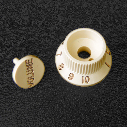 005-9266-030 005-9267-030 Fender Stratocaster Aged White S-1 Volume Knob and Switch Cap