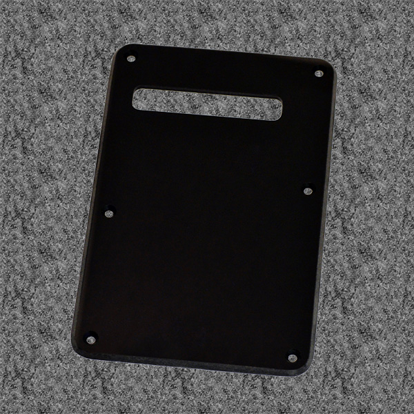 006-3266-000 0063266000 - Fender Stratocaster Black 1 Ply Tremolo Cover Back Plate