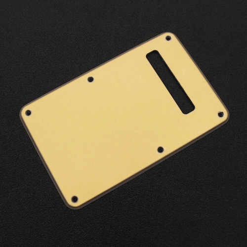 006-3543-000 - Genuine Fender Stratocaster Gold 1 Ply Tremolo Cover Back Plate