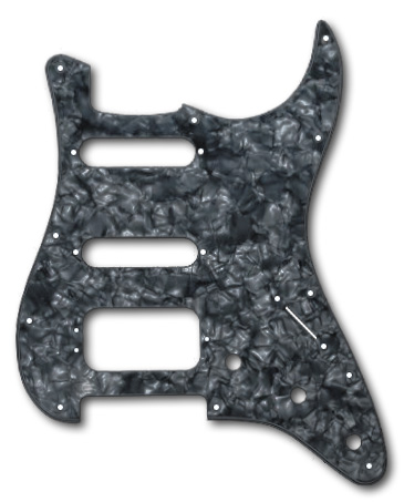 006-4009-000, 0064009000 - Fender HSS Stratocaster Black Pearl 4 Ply Pickguard
