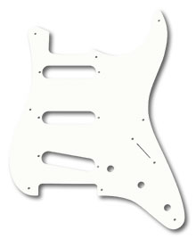 009-4245-049 - Fender Pure Vintage '56/'59 Stratocaster Eggshell 1 Ply 8 Hole Pickguard
