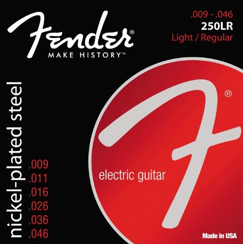073-0250-404 0730250404 - Fender 250LR Nickel Plated Steel Ball End Light/Regular Electric Guitar Strings