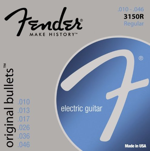 073-3150-406 0733150406 - Fender 3150R Original Bullets Pure Nickel Regular Electric Guitar Strings
