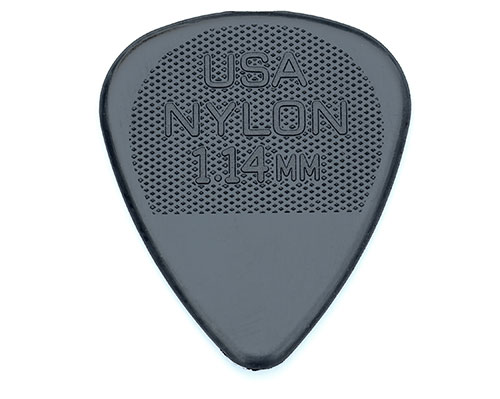 098-6351-951 Genuine Fender Black Nylon 1.14mm Extra Heavy Package of 12 Picks