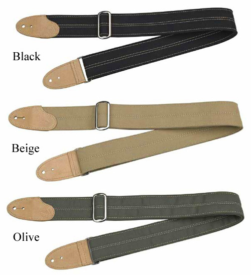 "099-0669-001, 099-0669-002, 099-0669-003 Genuine Fender ""F"" Canvas and Chrome Guitar Strap"