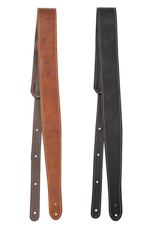 099-0681-050, 099-0681-006 Genuine Fender Monogramed Leather Guitar Strap