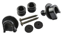 099-0690-006 - Fender Black Strap Locks and Buttons Set