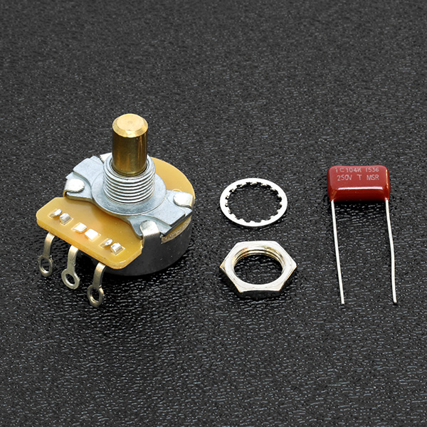 099-0831-000 0990831000 - Fender CTS 250K Solid Shaft Volume/Tone Potentiometer