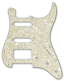 099-1338-000 - Fender White Pearl 4 Ply Standard 11 Hole Strat Pickguard