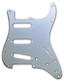 099-1360-100 - Fender Stratocaster Chrome 1 Ply Standard 11 Hole Pickguard