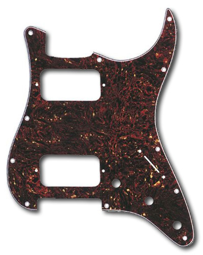 099-1372-000 - Genuine Fender Big Apple HH Stratocaster Tortoise Shell 4 Ply Pickguard