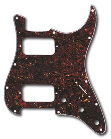 099-1372-000 - Fender (Big Apple) HH Stratocaster Tortoise Shell 4 Ply 11 Hole Pickguard