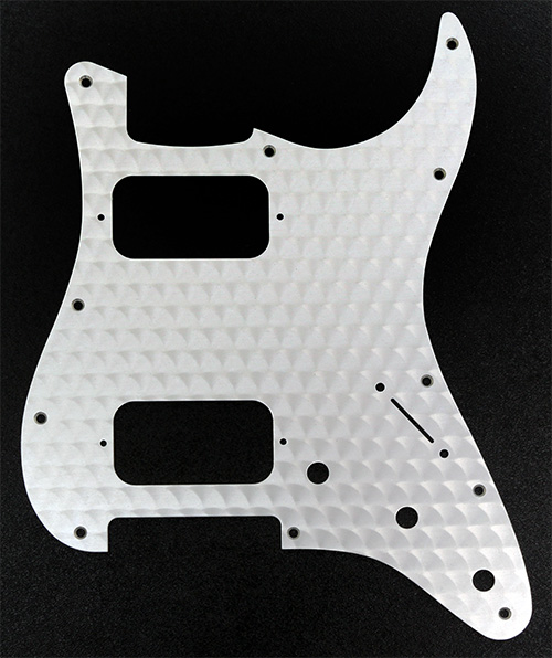 099-1382-000 0991382000 - Fender HH Stratocaster Engine Turned Aluminum Clear 1 Ply Pickguard