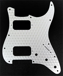 099-1382-000 - Fender Engine Turned Aluminum, Clear, HH Stratocaster 1 Ply 11 Hole Pickguard