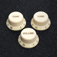 099-2008-000 Fender Stratocaster Soft Touch Aged White Knob Set