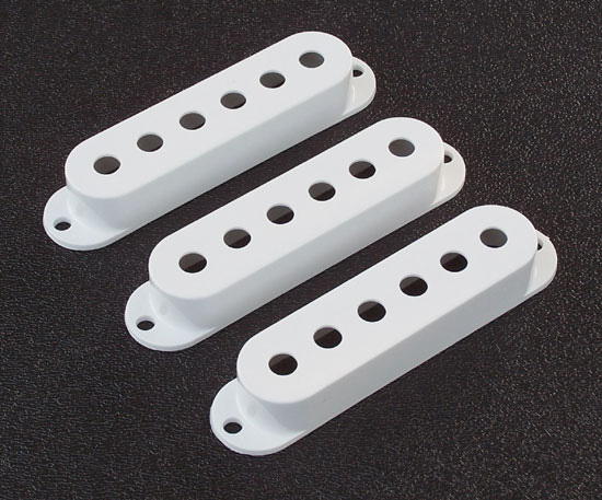 099-2034-000 Genuine Fender Stratocaster White Pickup Cover Set