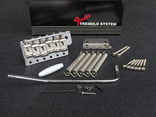 099-2049-002 - Fender USA '62 Reissue Vintage Tremolo Bridge Assembly Chrome, Left Handed