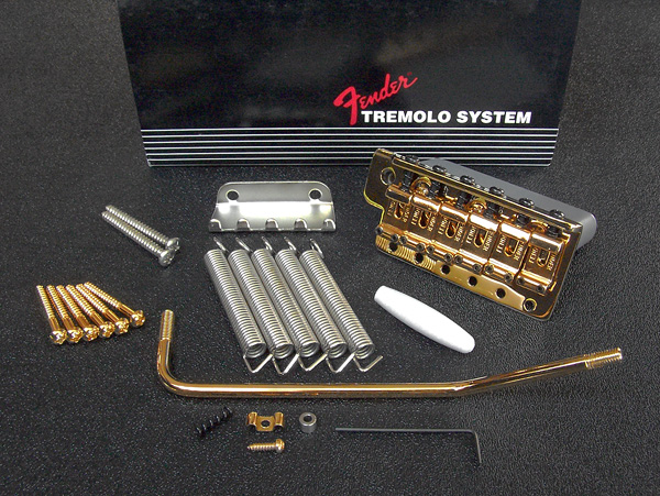 099-2049-200 0992049200 Fender American Vintage Stratocaster Gold Tremolo Bridge Assembly