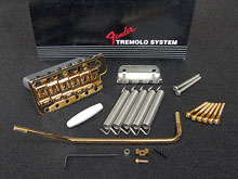 099-2049-202 - Fender USA '62 Reissue Vintage Tremolo Bridge Assembly Gold - LEFT Handed