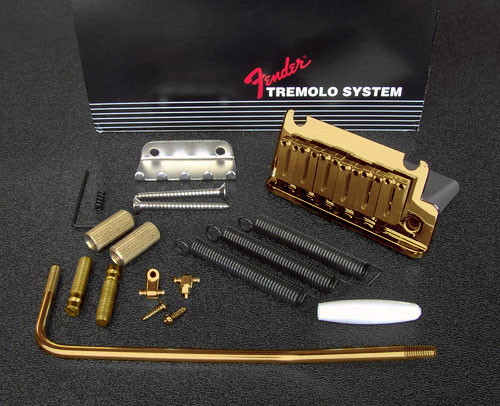 099-2050-200 0992050200 Fender American Standard Stratocaster Gold Tremolo Bridge Assembly