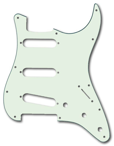 099-2144-000, 0992144000 - Fender Stratocaster Mint Green 3 Ply 11 Hole Pickguard