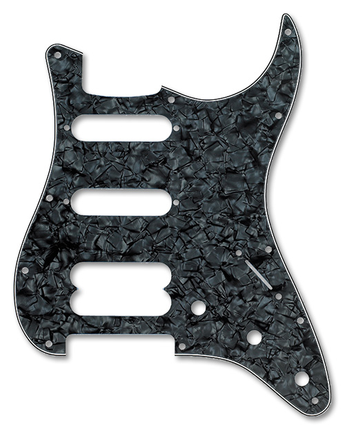 099-2146-000 - Fender HSS Stratocaster Black Pearl 4 Ply Pickguard