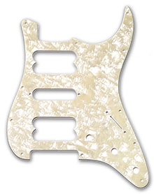099-2230-000 - Fender HSH Stratocaster White Pearl 11 Hole Pickguard
