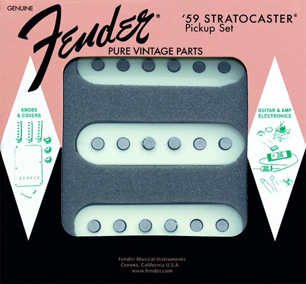 099-2236-000 Genuine Fender Stratocaster Pure Vintage '59 Strat Pickup Set