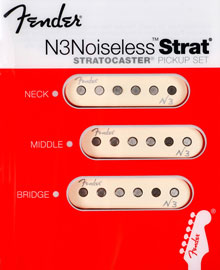 099-3115-000, 0993115000 Fender N3 Noiseless Pickup Set Complete Strat Pickguard Assembly