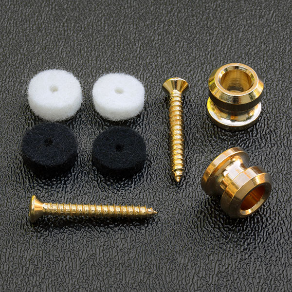 099-4914-200 - Genuine Fender American Standard Strap Buttons - Gold