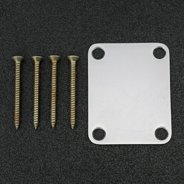 099-7216-000 Genuine Fender Stratocaster Road Worn Chrome Neck Plate