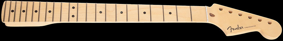 "099-9002-921 Genuine Fender Stratocaster Replacement Neck 22 Medium Jumbo Frets, Maple Fingerboard, Compound Radius 9.5"" to 14"""
