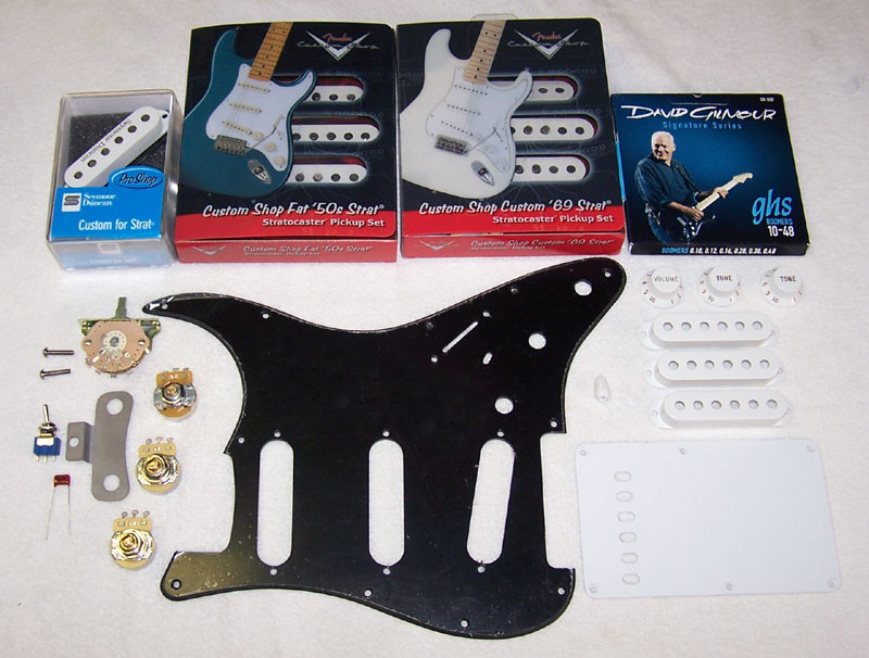 Custom Gilmour Style Black Strat Project