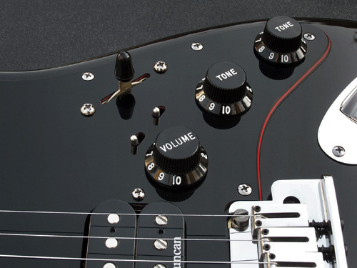 Custom Double Recessed Mini-Toggle Switch Pickguard Assembly Kit For Super Switch Projects