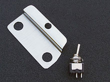 Gilmour Style Black Strat Recessed Mini-Toggle Switch Mounting Bracket Kit