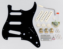 Gilmour Black Strat Basic Pickguard Assembly Kit