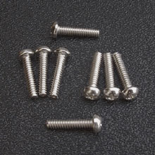 Chrome Round Head Pickup Mounting Screws