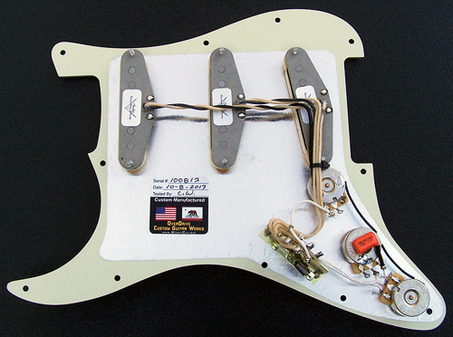 Complete Strat Pickguard Assembly