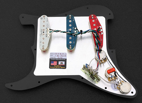 5011 back l custom built complete strat pickguard assembly built with fender fender noiseless pickups wiring at bayanpartner.co