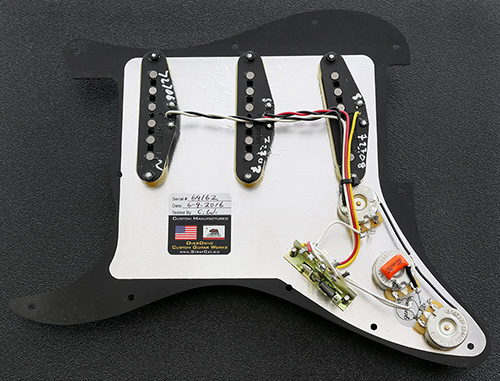 Complete and Fully Loaded Strat Pickguard Assembly Fender Deluxe Drive Pickup Set
