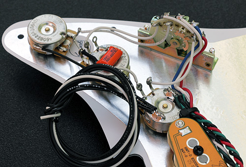 N4 Noiseless Pickguard Assembly Controls Wiring