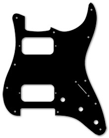 Black Acrcylic 1 Ply 0.120'' HH Pickguard With Rounded and Polished Edge