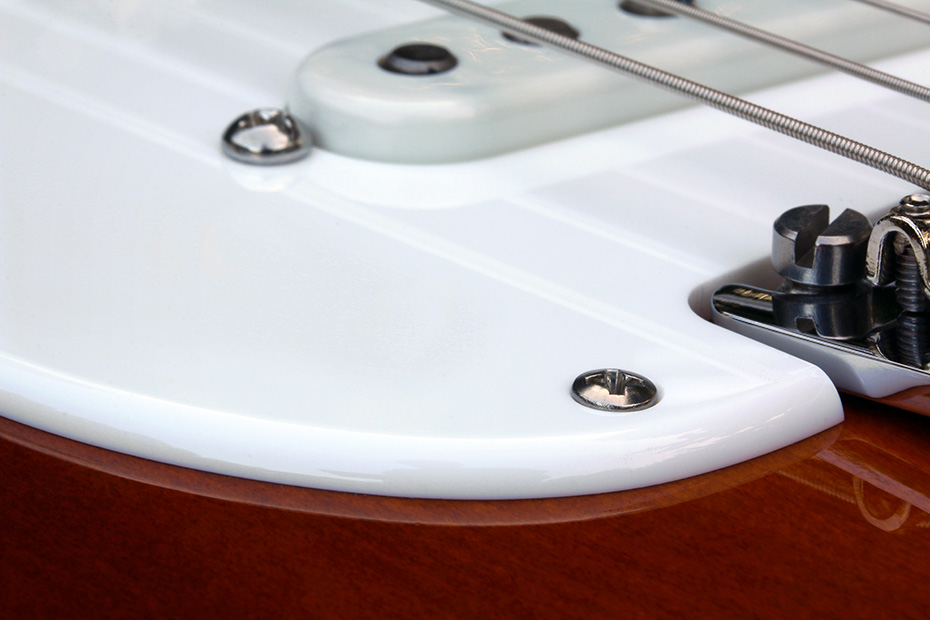 "White 0.120"" Acrylic Pickguard With Rounded And Polished Edge"