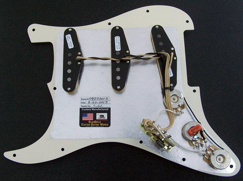 comp pg assy wiring l custom built complete strat pickguard assembly built with fender fender strat texas special wiring diagram at bayanpartner.co