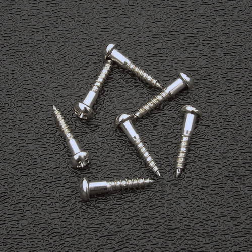 Nickel Tuning Keys Mounting Screws, Phillips Round Head #3 x 1/2