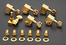 KCDF-3805GL - Kluson Contemporary Gold Tuners For American Series Strat