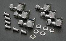 KLF-3805CL - Kluson Chrome Locking Tuners For American Series Strat